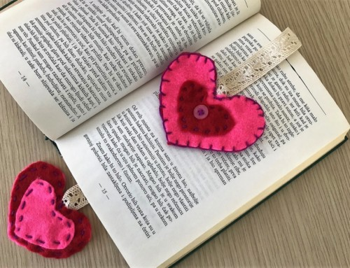 HEART-SHAPED BOOKMARKER